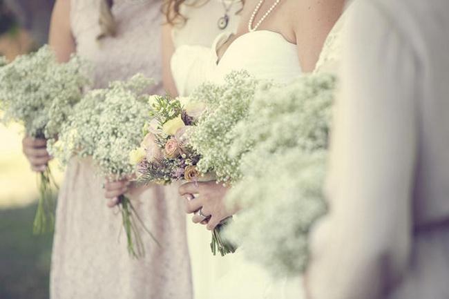 Vintage Wedding Baby's Breath Bouquets
