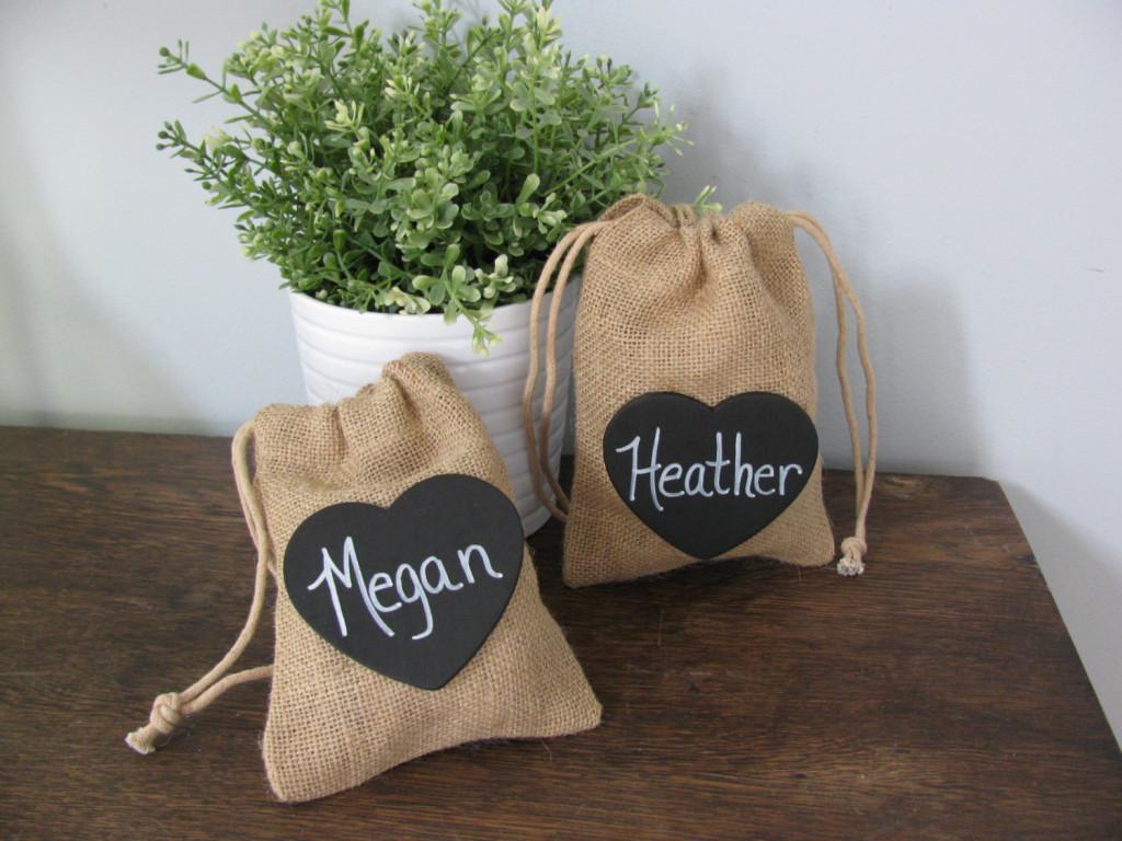 Bridesmaid Gift Idea Burlap Bags