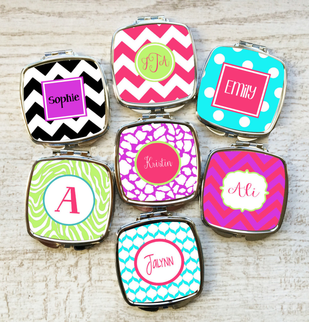 Bridesmaid Gift Idea Personalized Compact