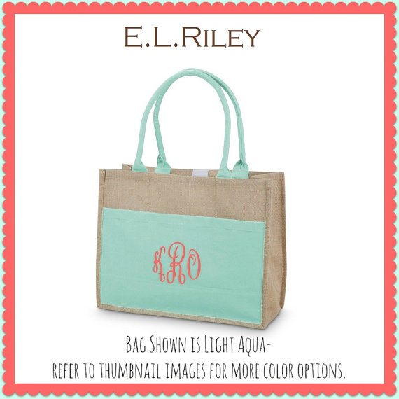 Bridesmaid Gift Monogrammed Tote