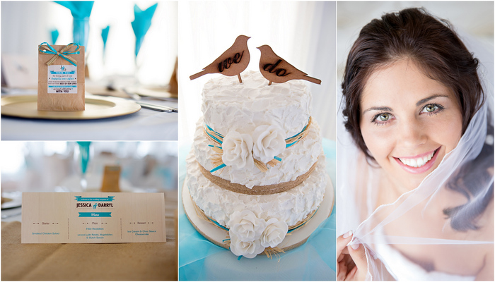 Turquoise White Country Love Wedding Debbie Kelly Photography