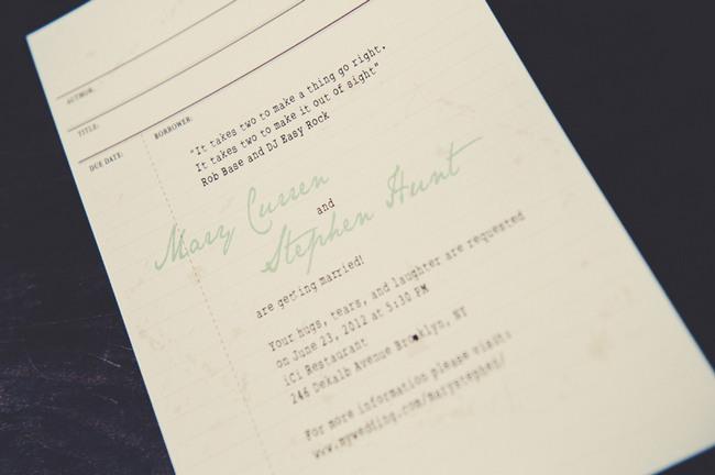 Vintage Literary Themed Wedding, Brooklyn New York