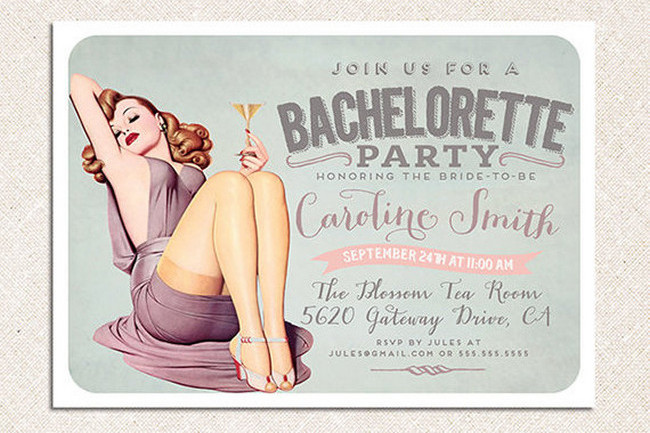 Cheeky Bachelorette Party Invite