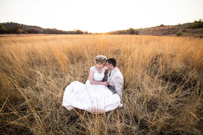 Blush and Green Rustic Outdoor Farm Wedding