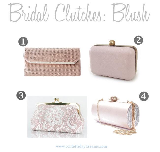 Blush Bridal Clutch Purses
