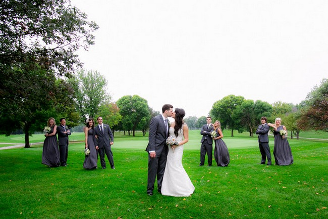 Charcoal & White Vintage Handmade Coal Valley Wedding