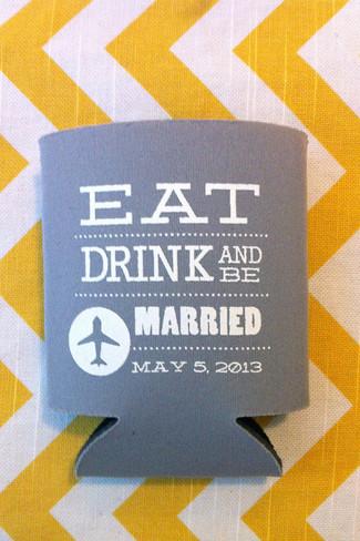 Chevron Wedding Koozies {Wedding Trends}