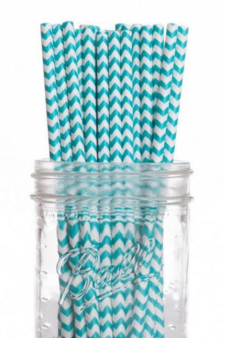 Vintage Chevron Paper Drinking Straws {Wedding Trends}