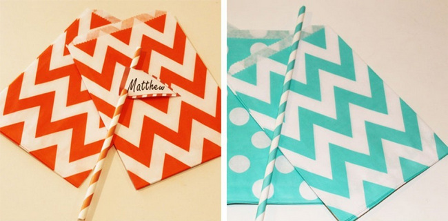 Chevron Candy Wedding Favour Paper  Bags {Wedding Trends}