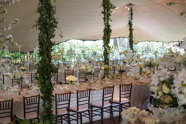 Floral Arrangement Johannesburg : Fabulously glamorous vintage white wedding johannesburg