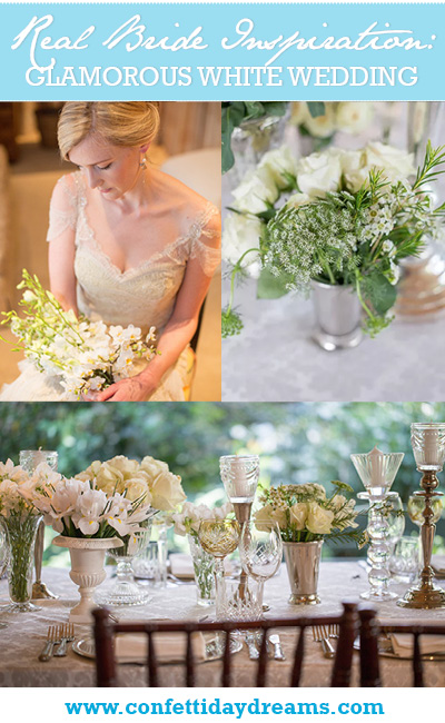 Glamorous Vintage White Wedding, Johannesburg South Africa