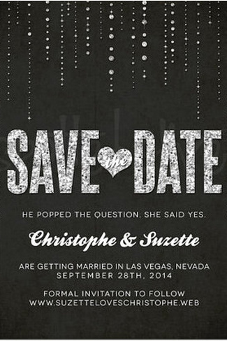 Glitter Wedding Save the Date