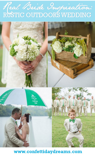 Green and White Rustic Outdoors Knoxville Wedding