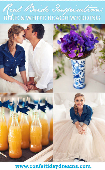Navy & White West Coast Beach Wedding, Western Cape South Africa