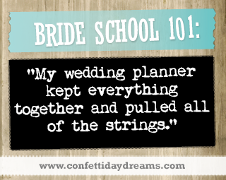 Real Bride Advice | Allow a wedding planner to keep everything together - Winnie