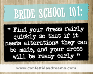 Real Bride Advice | Find your dress quickly to allow for alterations - Sarah