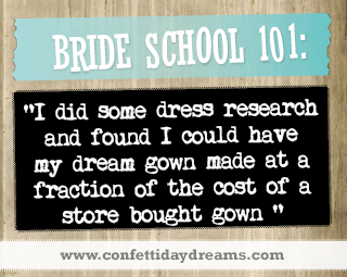 Real Bride Advice | Have your dream gown made for less - Kendall