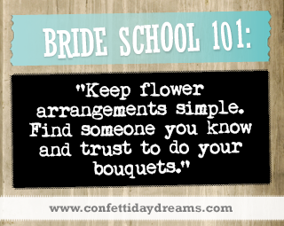 Real Bride Advice | Keep flower arrangements simple - Kirsten