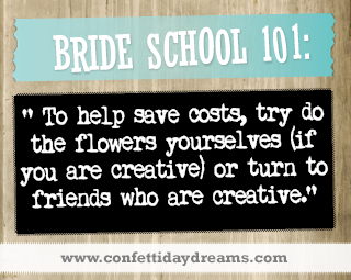 Real Bride Advice | Try to do your own floral decor - Elze