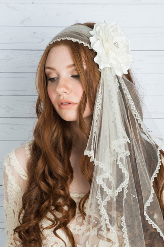 2014 Blair Nadeau Millinery Bridal Collection | Ava Silk Headsash Juliet Veil