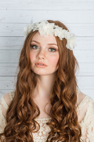 2014 Blair Nadeau Millinery Collection | Farah Floral Crown Headpiece