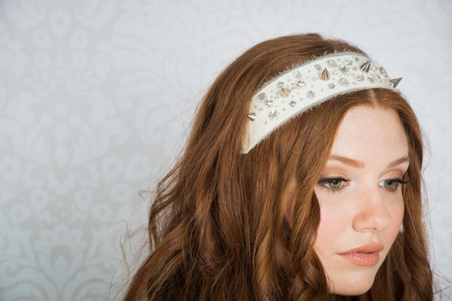 2014 Blair Nadeau Millinery Bridal Collection | Benatar Crystal Spike Headsash