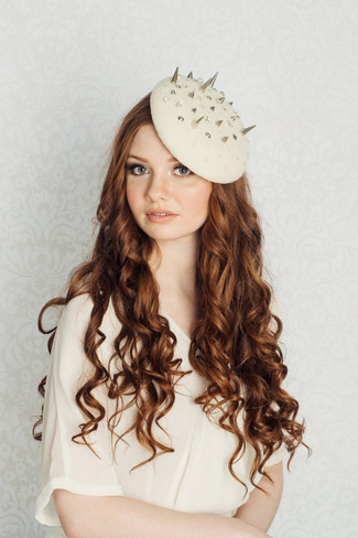 2014 Blair Nadeau Millinery Bridal Collection | Cherie Spiked Fascinator