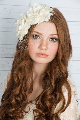 2014 Blair Nadeau Millinery Bridal Collection | Olivia Floral headpiece