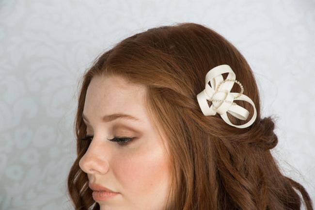 2014 Blair Nadeau Millinery Bridal Collection | Margot Crystal Ribbon Fascinator