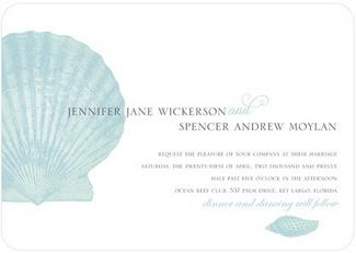 Seashell Chic Beach Wedding Invitations
