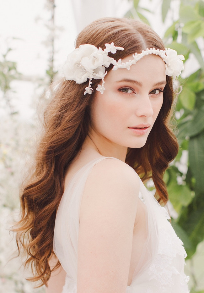 Jannie Baltzer 2014 Bridal Headpiece Collection | Faye