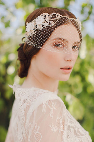 Jannie Baltzer 2014 Bridal Headpiece Collection | Linda