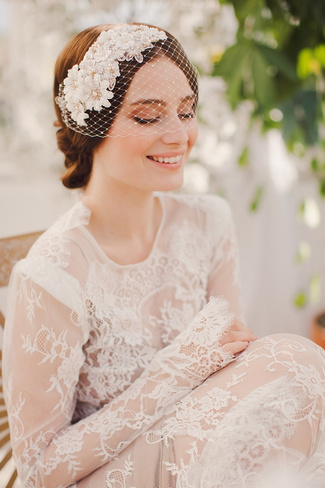 Jannie Baltzer 2014 Bridal Headpiece Collection | Maya Birdcage