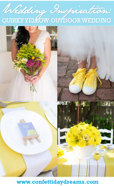 Quirky Yellow Outdoor South African Wedding