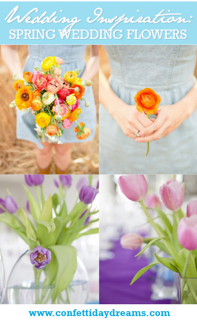 Spring Inspired Wedding Flower Choices