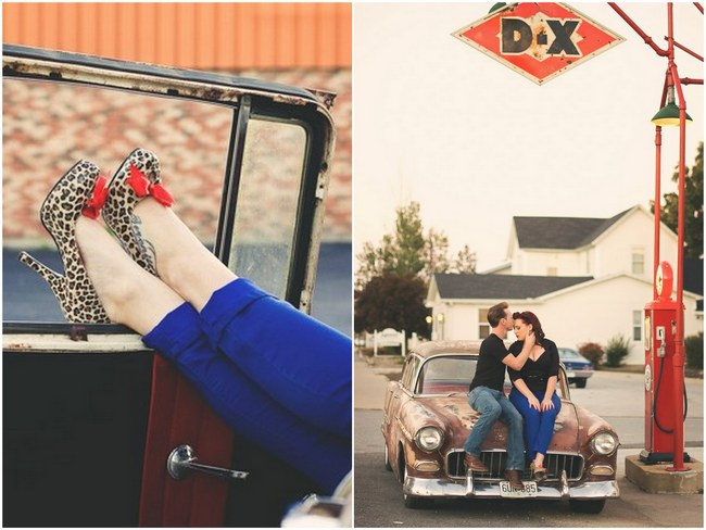1950s Styled Engagement Shoot Neelys Photography. 2