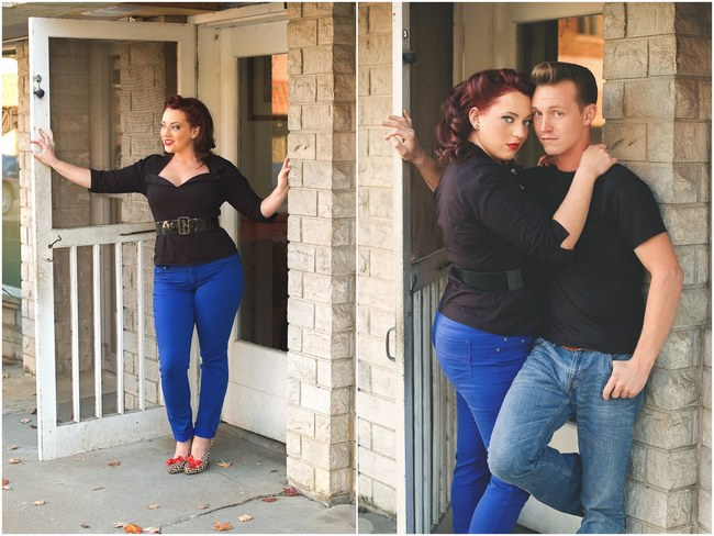 1950s Styled Engagement Shoot Neelys Photography. 5