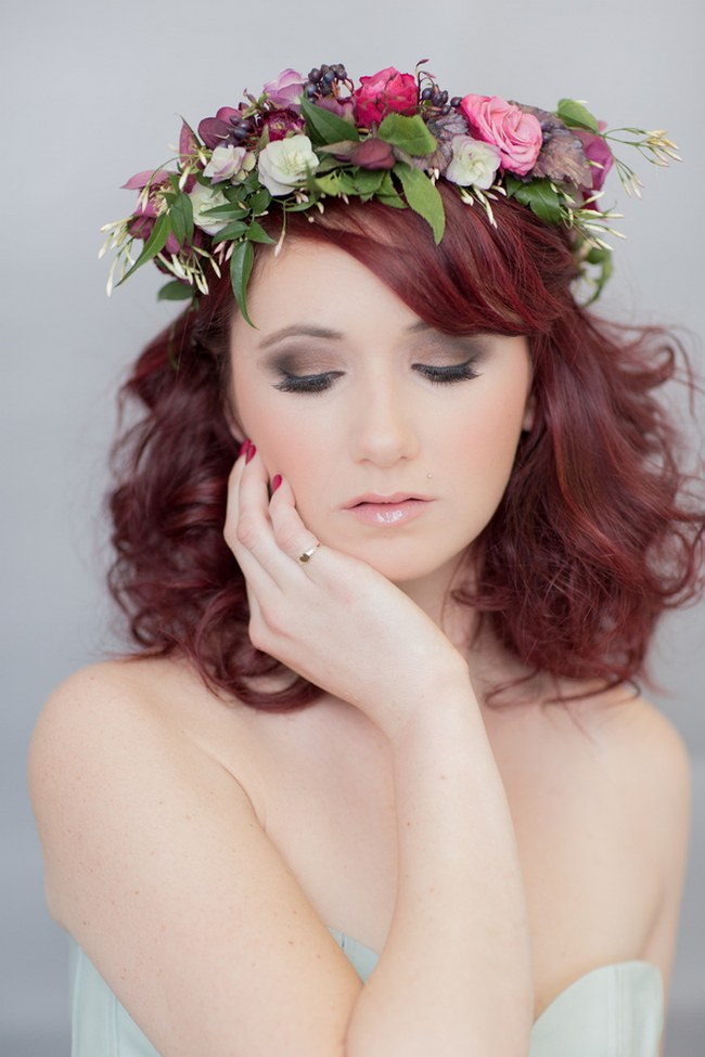 _Bohemian Bridesmaid Inspiration Powder Blue Flower Crown 003