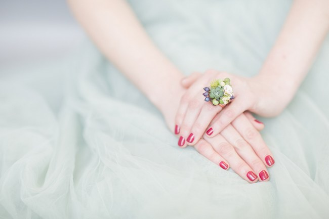 Bohemian Bridesmaid Inspiration Powder Blue Flower Crown 004