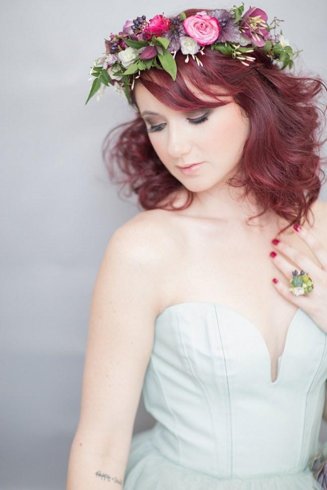 _Bohemian Bridesmaid Inspiration Powder Blue Flower Crown 006