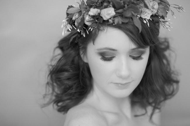 Bohemian Bridesmaid Inspiration Powder Blue Flower Crown 009