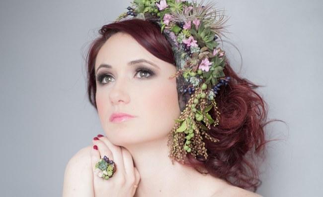 Bohemian Bridesmaid Inspiration Powder Blue Flower Crown 029