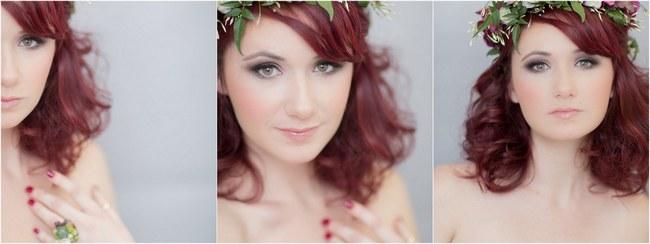 Bohemian Bridesmaid Inspiration Powder Blue Flower Crowns 001