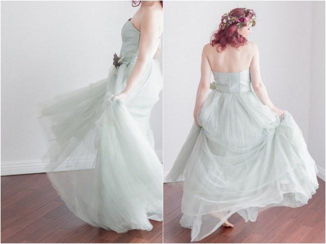 Bohemian Bridesmaid Inspiration Powder Blue Flower Crowns 003