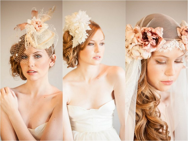 Floral Headpieces – Mignonne Handmade Bridal Collection 2014