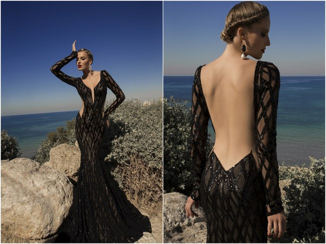 Meteor Evening Gown Galia Lahav Black