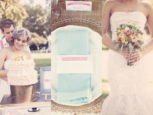 Rustic Ruffles, Burlap & Lace Wedding Inspiration