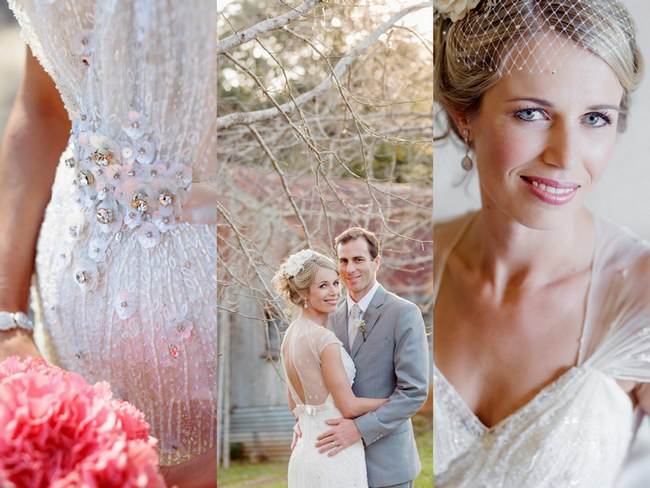 Shabby Chic Country Style Pink Wedding, Australia {Jani B Photography}