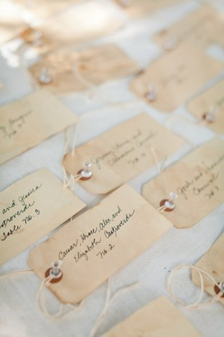 Unique Wedding Escort Place Card Ideas 2
