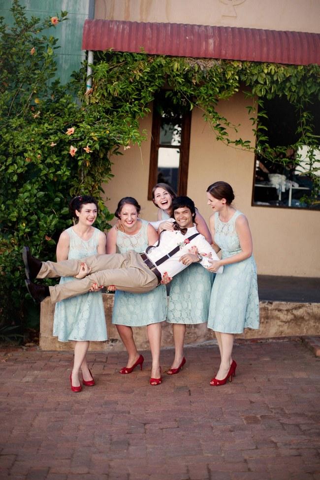 Aqua Blue Red Rustic Farm Wedding South Africa 014